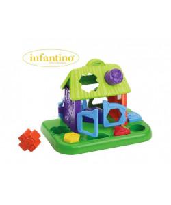 INFANTINO Prostrkávací domeček Zvířátka