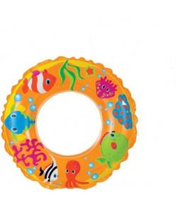 Nafukovací kruh 61cm transparent 3 druhy 6-10 let