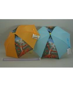 Deštník Medvídek Pú 37cm - modrý a oranžový