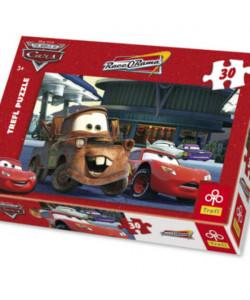 TREFL Puzzle CARS Čerpací stanice 30 dílků