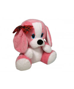 MÚ Brno Pes s mašlí 40 cm Růžový