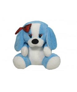 MÚ Brno Pes s mašlí 40 cm Modrý