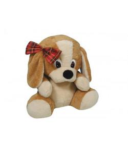 MÚ Brno Pes s mašlí 40 cm Béžový
