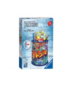 Puzzle 3D Stojan na tužky Graffiti, 54 dílků