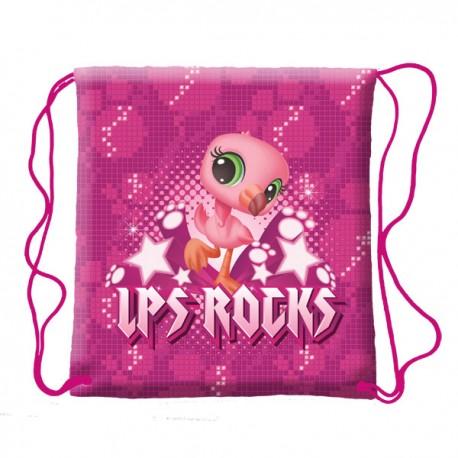 Sáček na přezůvky - pytel školní LPS Rocks 38x33 cm