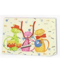 Dárková taška kočičí kapela 23 x 10 x 18 cm