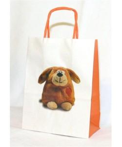 Dárková taška plyšový pes 16 x 8 x 21 cm