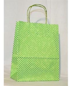 Dárková taška zelený puntík 24 x 31 cm