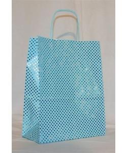 Dárková taška modrý puntík 24 x 31 cm