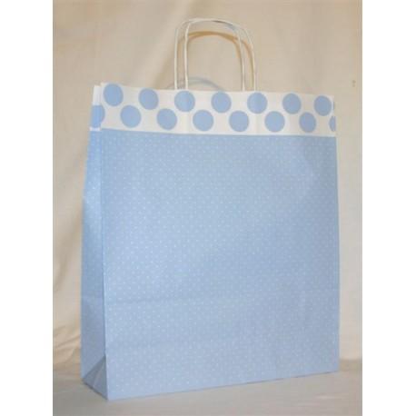 Dárková taška sv. modrá 36 x 41 cm