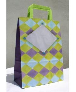 Dárková taška káro 32 x 17 x 45 cm