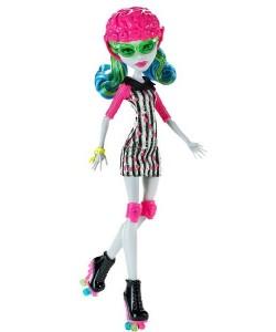 Panenka Monster High Ghoulia Yelps na kolečkových bruslích