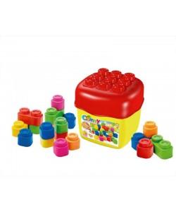 Clemmy baby - 20 barevných kostek v kyblíku, základní barvy