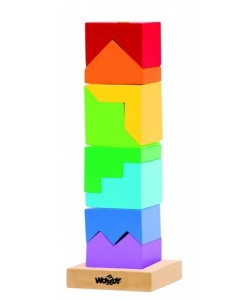 Woody Skládací věž- hlavolam