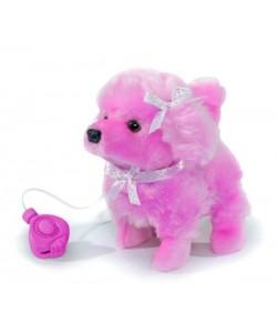 ChiChi Love Pejsek na kabel, běhá a štěká- růžový