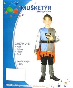 Kostým dětský Mušketýr vel. L 130-140cm