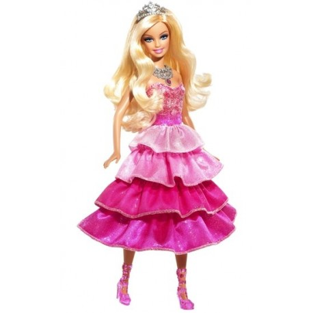 Barbie Třpytivá princezna růžová