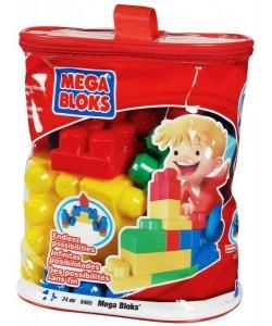 MEGA BLOKS Kostky v plastovém pytli, 24 dílů