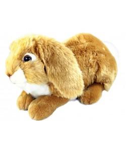 Plyšový zajíc hnědý ležící 30 cm