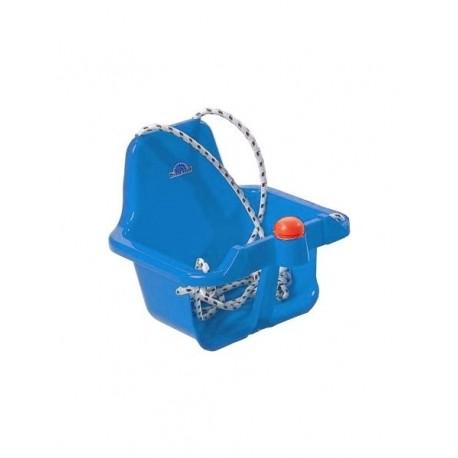 Houpačka plastová s klaksonem modrá