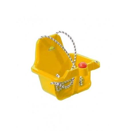 Houpačka plastová s klaksonem žlutá
