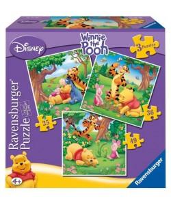 Puzzle Ravensburger Medvídek Pú 3v1