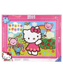 Ravensburger Rámové puzzle Hello Kitty na jarmarku, 31 dílků