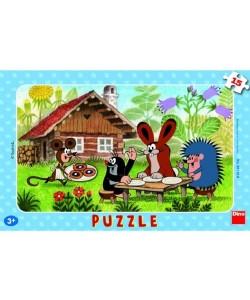 Dino Puzzle Krteček na návštěvě 15 dílků