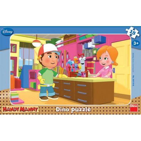 Dino Puzzle deskové Handy Manny 15 dílků
