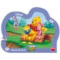 Dino Puzzle Medvídek Pú Medové opojení 25 dílků