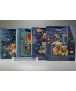 Dárková taška Jeans s Méďou velká 26 x 32 cm