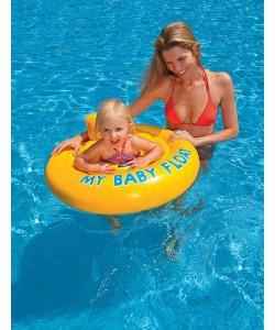 Intex Nafukovací plavátko žluté kulaté 76 cm 1-2 roky