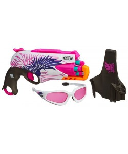 Nerf-Rebelle pistole, brýle a pouzdro