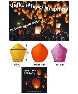 Lampion štěstí létající š 40-60 v 106 cm