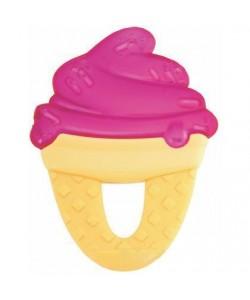 Kousátko Chicco chladící gel zmrzlina růžová