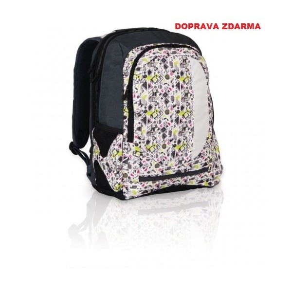 Studentský batoh Topgal HIT 813 P - Light Grey - Macíčkovy hračky ef29b5ca85