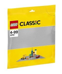 LEGO®Classic 10701 Šedá podložka na stavění