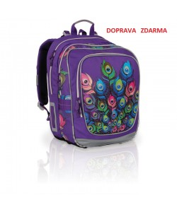 Školní batoh Topgal CHI 697 I Purple - DOPRAVA ZDA