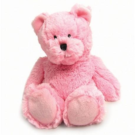 Hřejivý plyšák - medvídek růžový AKCE
