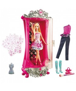 Barbie BRB Kouzelná šatna s panenkou