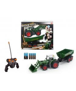 Dickie RC Traktor se lžící a vozíkem 60 cm