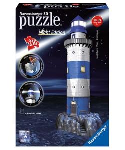 Puzzle Ravensburger Maják v příboji - Noční edice