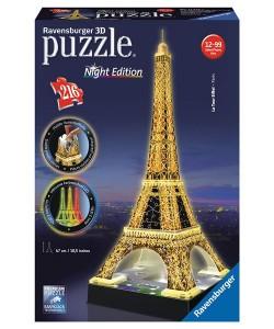 Puzzle Ravensburger Eiffelova věž - Noční edice 3D