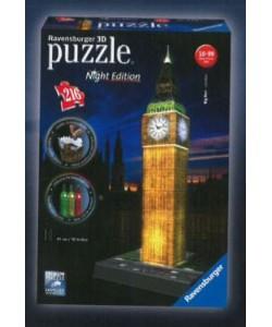 Puzzle 3D Big Ben Noční Edice 216d