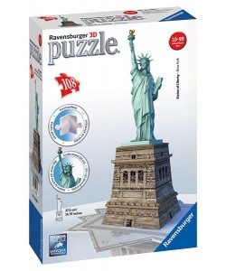 Puzzle 3D Socha Svobody 108 dílků
