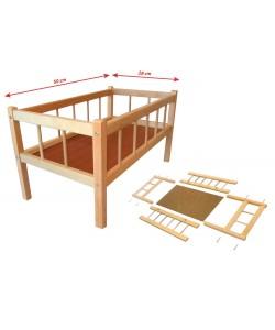 Postýlka dřevěná 50 x 28 cm