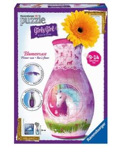 Puzzle 3D Váza Jednorožec 216d