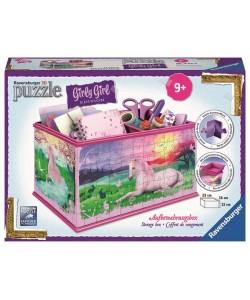 Puzzle 3D Úložná krabice Jednorožec 3D 216d