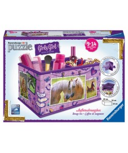 Puzzle 3D Úložná krabice Kůň 3D 216d