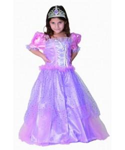 Kostým princezna Fialka, velikost S 4-6 let